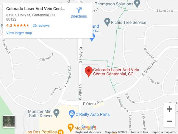 Directions to Vein Center in Centennial, CO 80122 on Holly St
